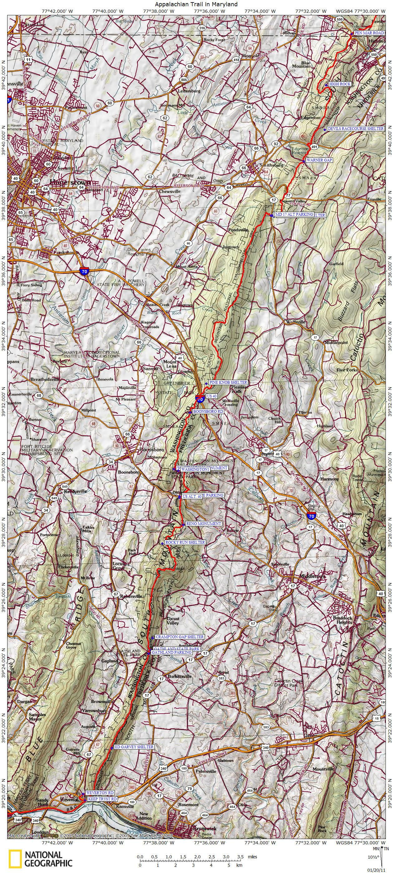 Appalachian Trail in Maryland