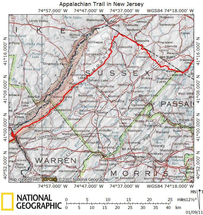 Appalachian Trail in New Jersey on
