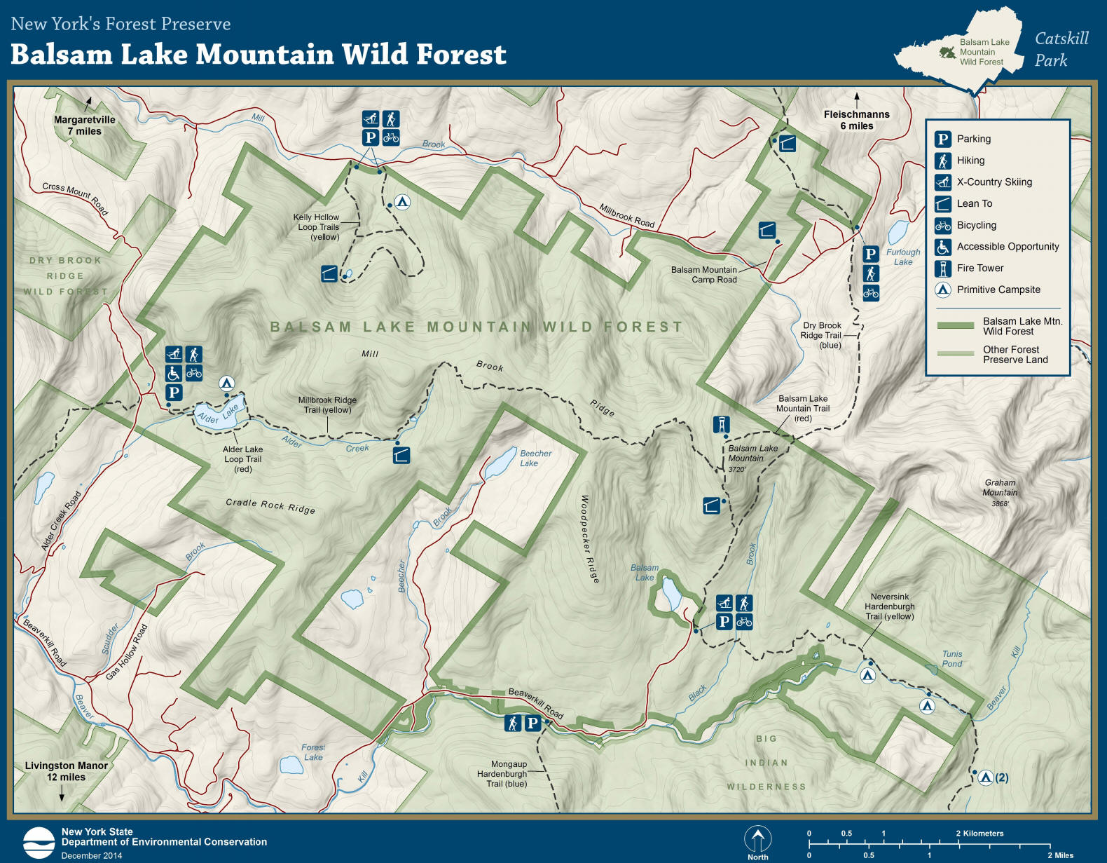 Balsam Lake Mtn Wild Forest on map of lake winnebago, map of lake michigan, map of shawano lake, map of lake joseph, map of utah lake, map of lake superior, map of lake minocqua, map of woman lake, map of lake pend oreille,