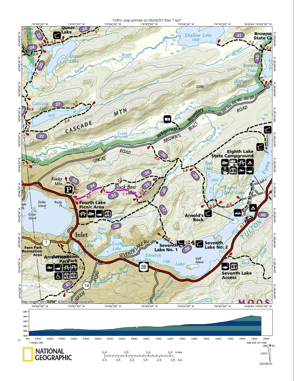 Black Bear Mountain - New york map mountains