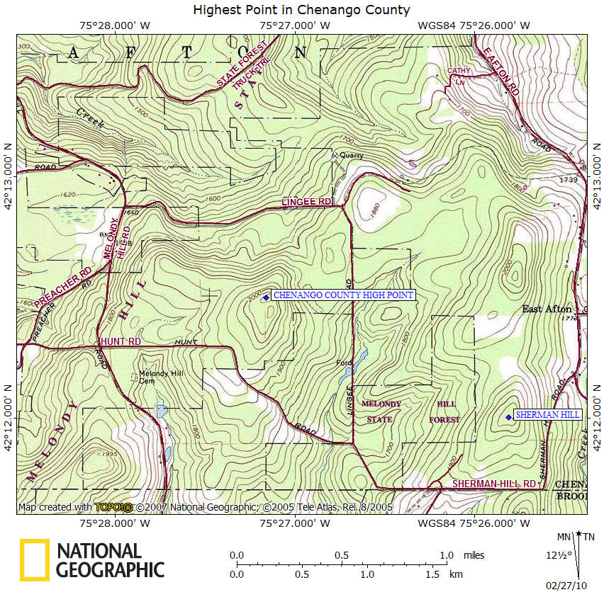 Map Of New York Finger Lakes.Hiking In Chenango County
