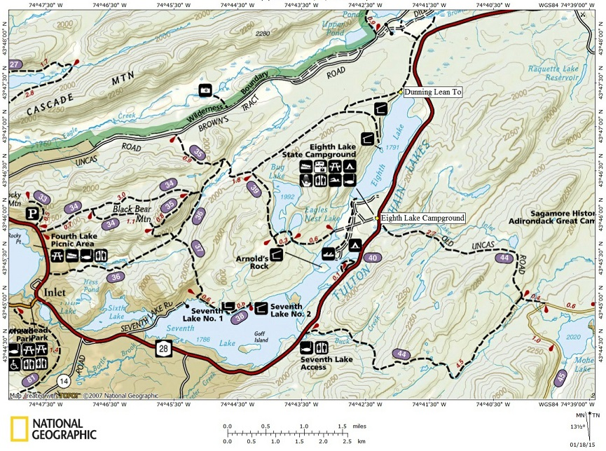 eighth lake campground map Eighth Lake Campground eighth lake campground map
