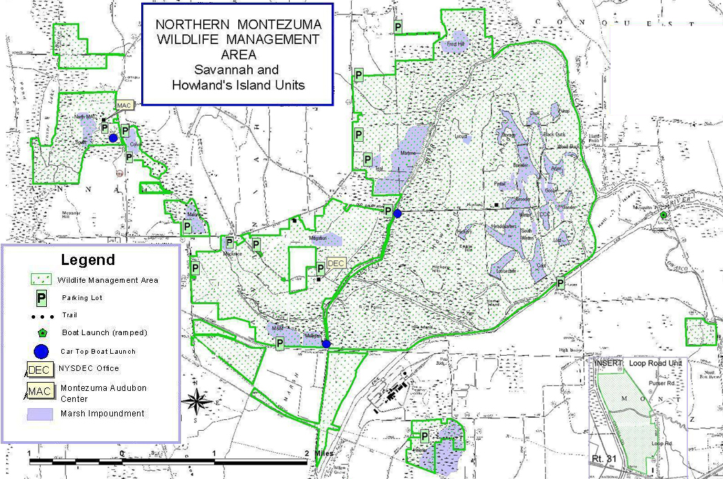 Northern Montazuma Wildlife Management Area Map