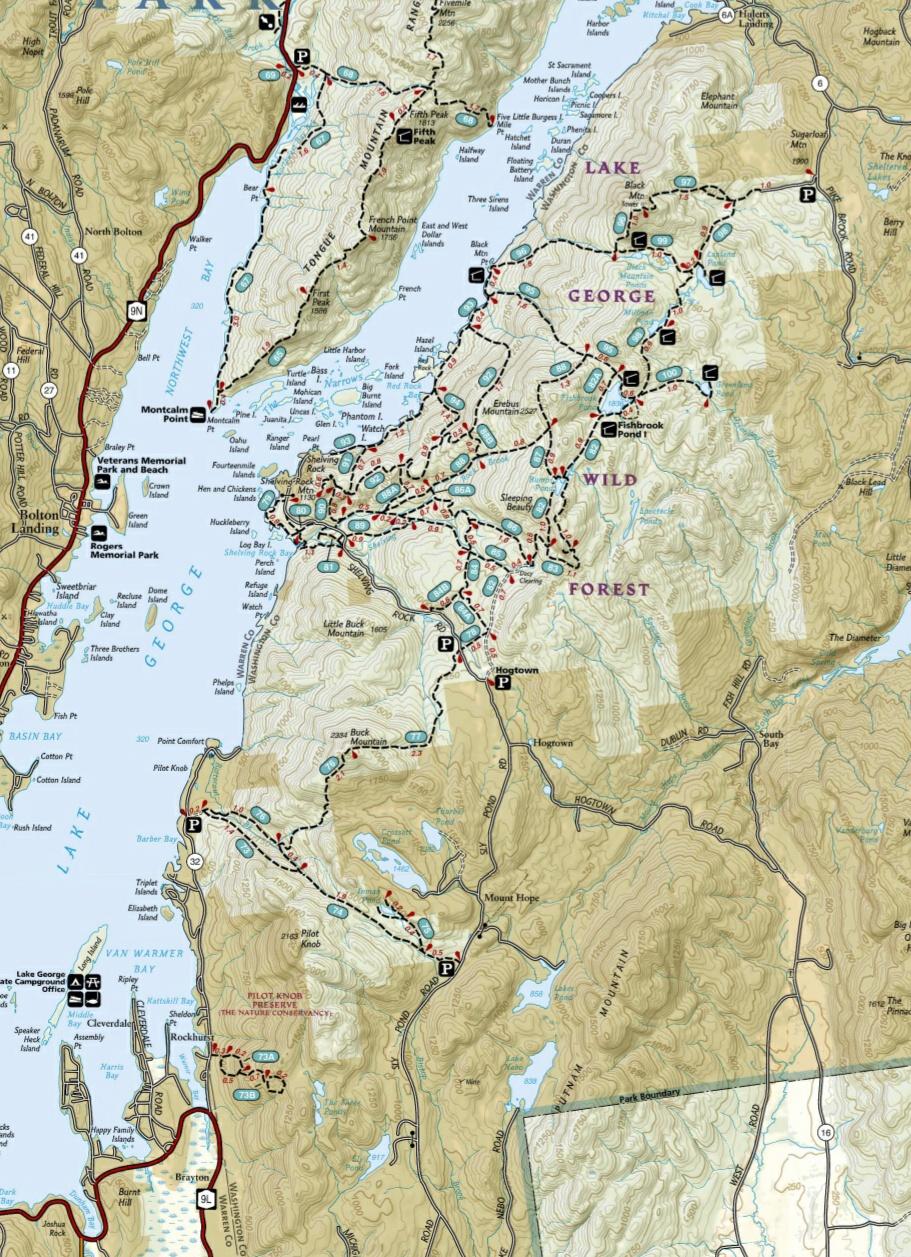 Island Long Range Hiking Trails Map