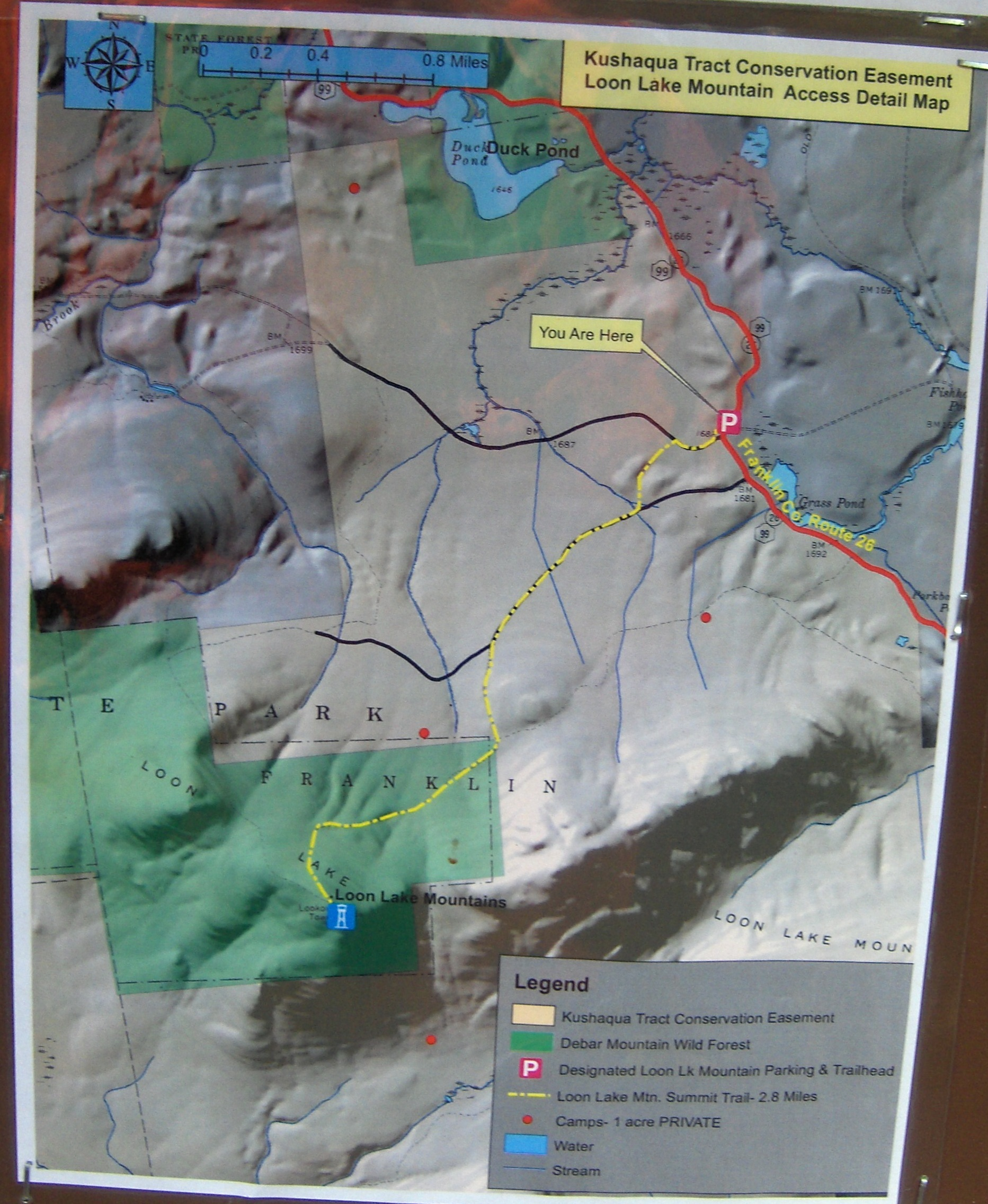 Loon lake mountain dec map that is at the kiosk publicscrutiny Choice Image