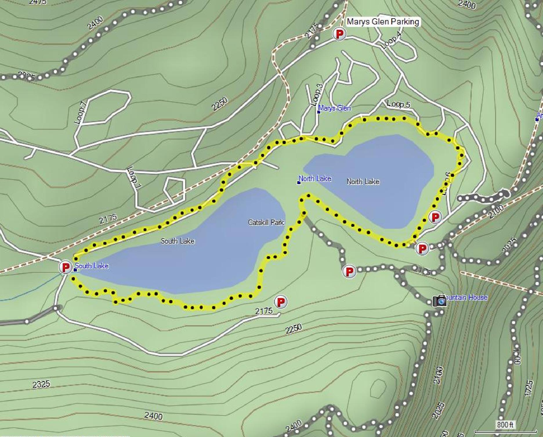 north lake to south lake loop map Norrth South Lake Loop north lake to south lake loop map