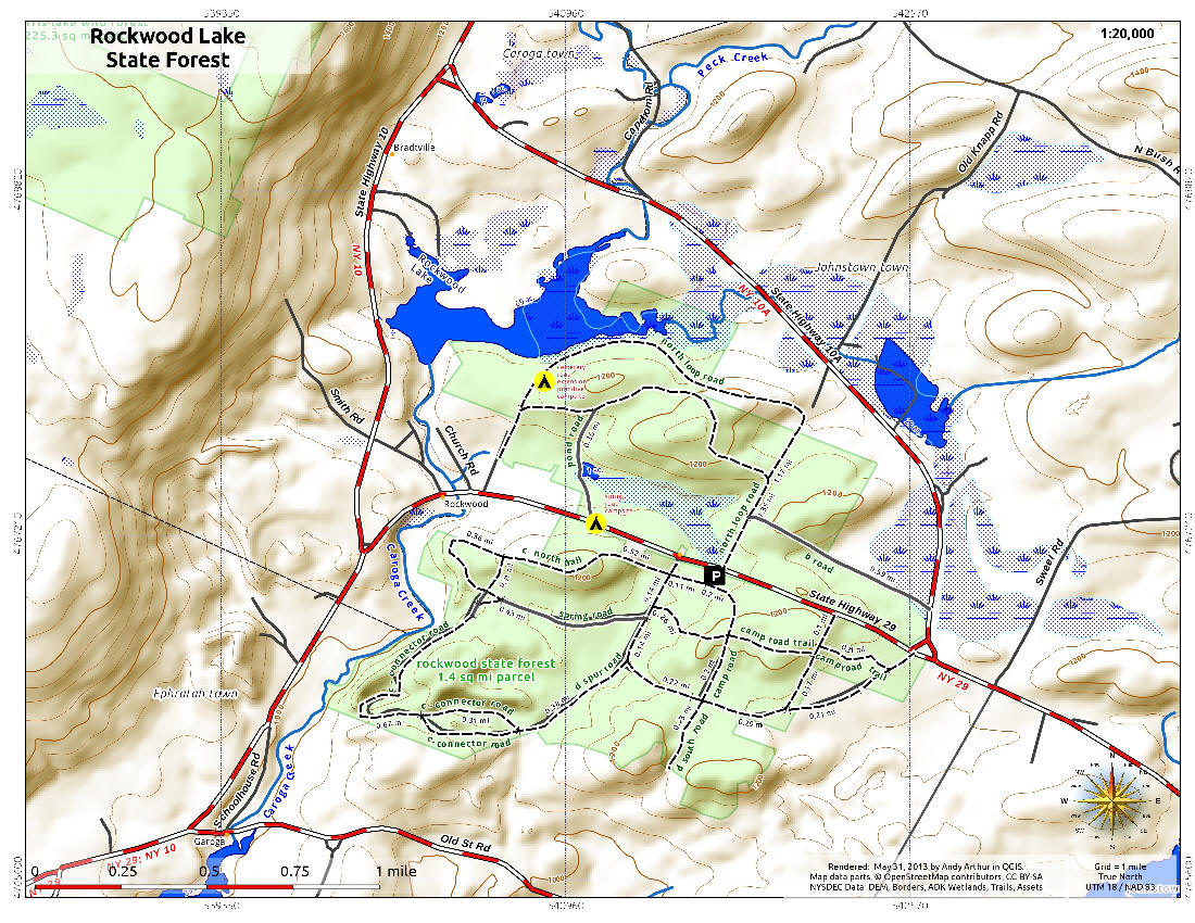nycmap . rockwood state forest