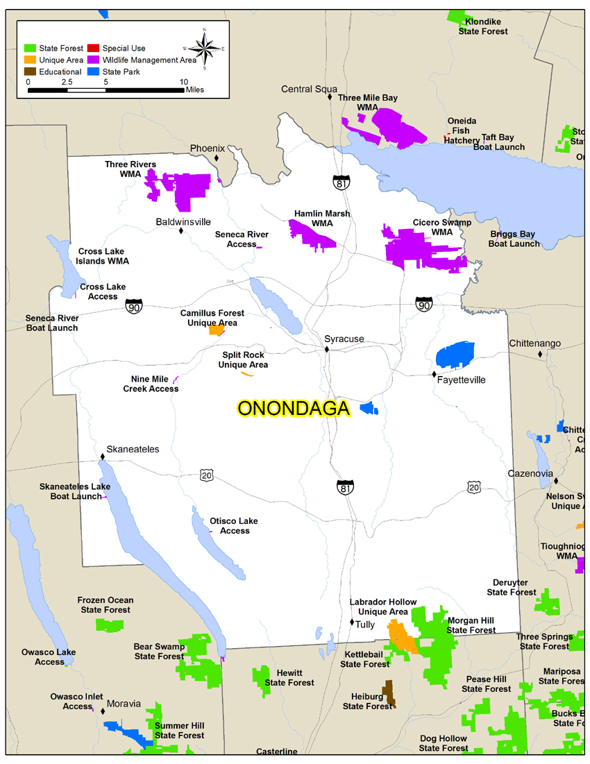 map of Onondaga Countyonondaga county